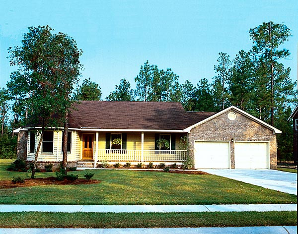 Home Elevation For N Style : Country ranch traditional house plan