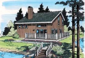 Contemporary House Plan 34058 Elevation