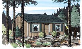 Cabin Cottage Traditional House Plan 34075 Elevation