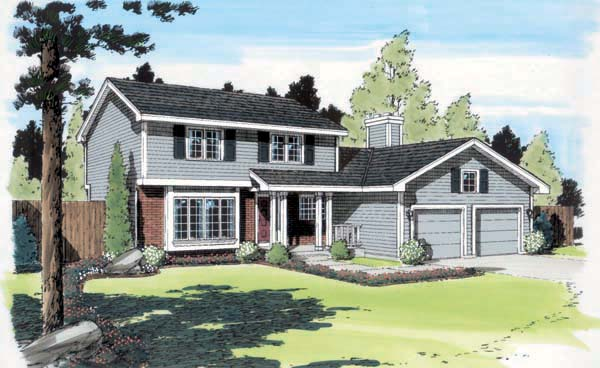 Traditional House Plan 34079 Elevation