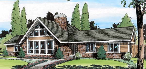 Contemporary Retro House Plan 34083 Elevation