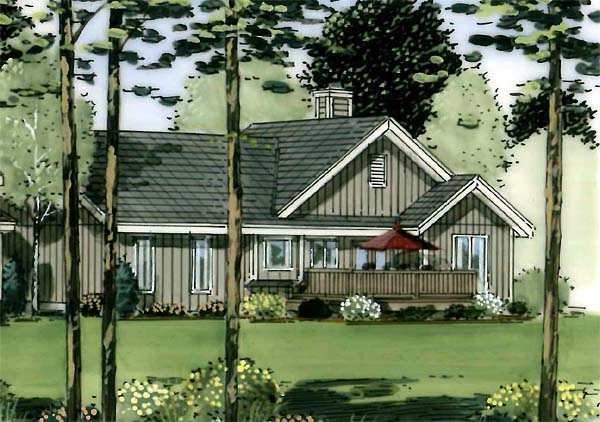 Ranch, Traditional House Plan 34150 with 3 Beds, 2 Baths, 2 Car Garage Picture 1