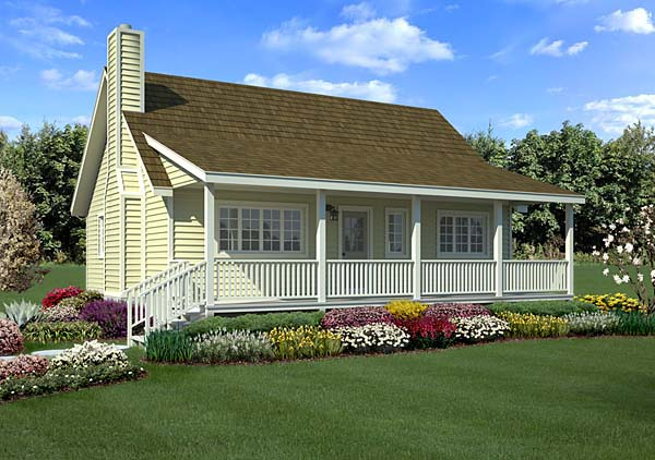 Country House Plan 34600 Elevation