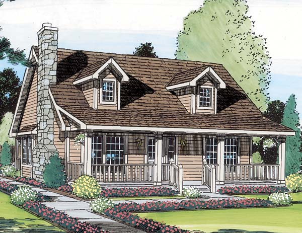 Cape Cod Cottage Country Saltbox House Plan 34601