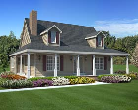 House Plan 34602 | Country, Southern Style House Plan with 1560 Sq Ft, 3 Bed, 3 Bath Elevation