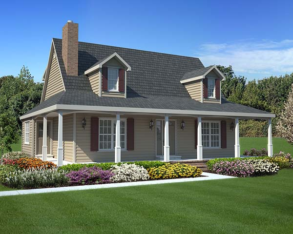 Country Southern House Plan 34602 Elevation