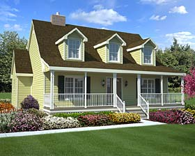 Country Farmhouse Southern House Plan 34603 Elevation