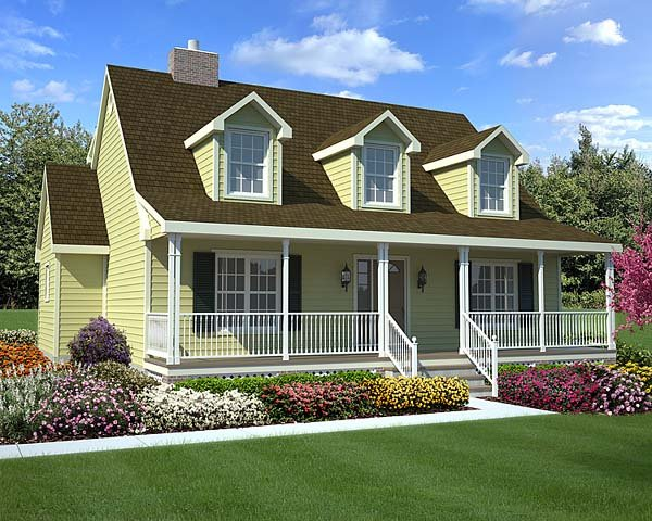 Front Elevation Farmhouse : House plan at familyhomeplans