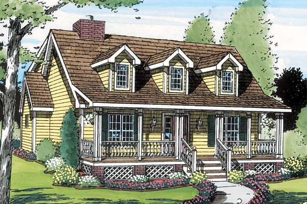 Country, Farmhouse, Southern House Plan 34603 with 3 Beds, 3 Baths Picture 1