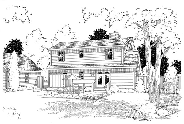 Country Farmhouse Southern House Plan 34603 Rear Elevation