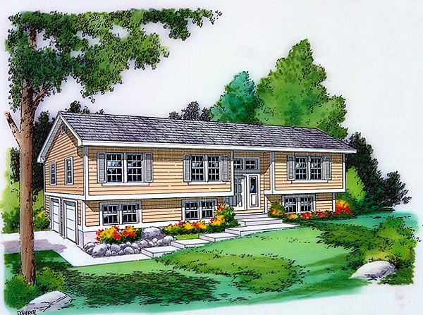 Country Ranch Traditional House Plan 34679 Elevation
