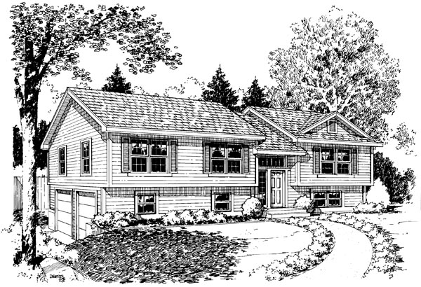 Traditional House Plan 34681 Elevation