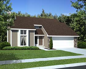 Contemporary House Plan 34800 Elevation