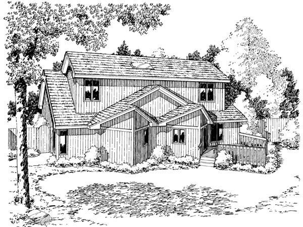 Contemporary House Plan 34800 Rear Elevation