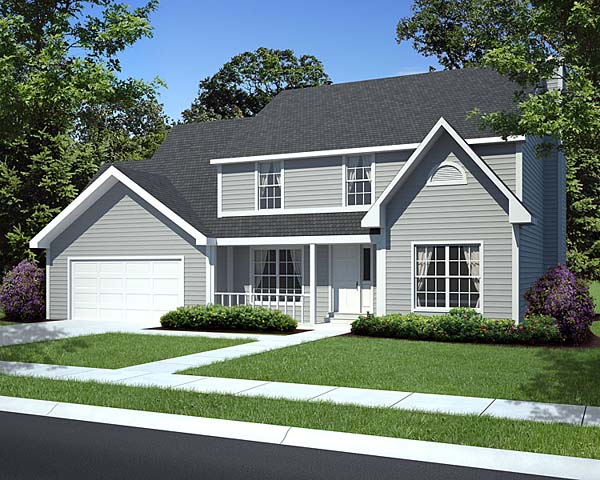 Country Farmhouse Traditional House Plan 34827 Elevation