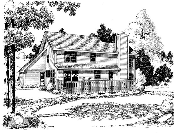 Country Farmhouse Traditional House Plan 34901 Rear Elevation