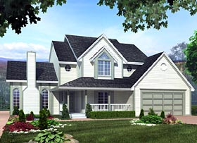 Farmhouse , Traditional House Plan 34926 with 3 Beds, 3 Baths, 2 Car Garage Elevation