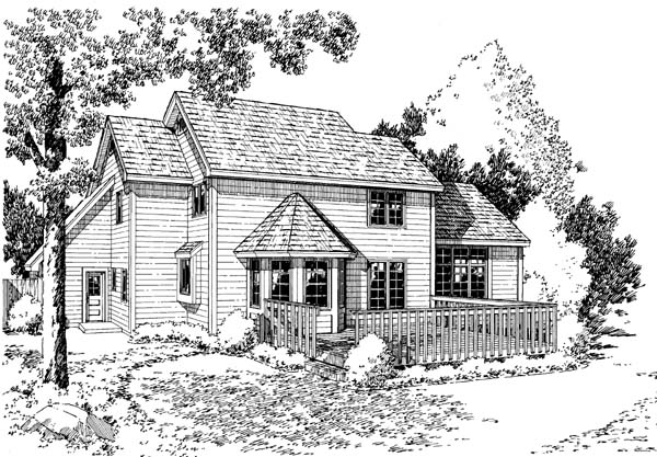 Farmhouse Traditional House Plan 34926 Rear Elevation