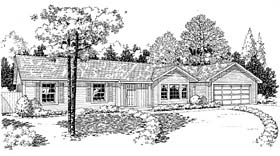 Ranch Traditional House Plan 34952 Elevation