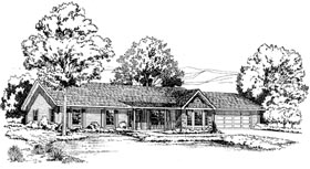 Ranch Traditional House Plan 34976 Elevation