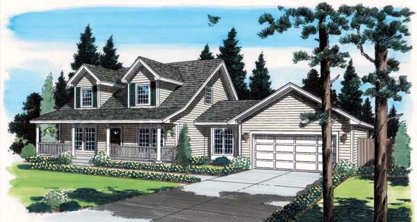 Cape Cod Country Southern House Plan 35001 Elevation