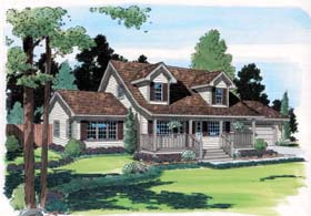 Cape Cod Country Southern House Plan 35002 Elevation