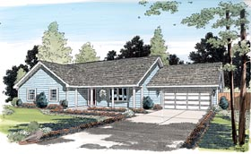 Ranch Traditional House Plan 35003 Elevation