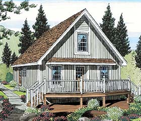 Plan Number 35007 - 1027 Square Feet