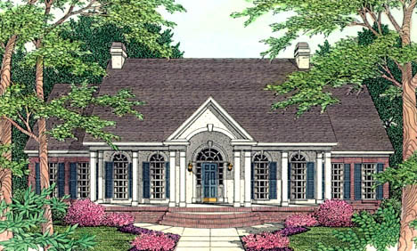 Colonial European House Plan 40001 Elevation
