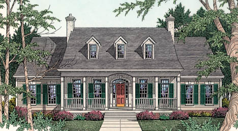 Cape Cod, Country, Southern House Plan 40003 with 3 Beds, 3 Baths, 2 Car Garage Elevation