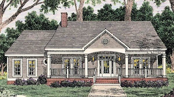 Country House Plan 40005 with 3 Beds, 2 Baths, 2 Car Garage Front Elevation