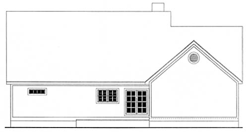 Country House Plan 40005 with 3 Beds, 2 Baths, 2 Car Garage Rear Elevation