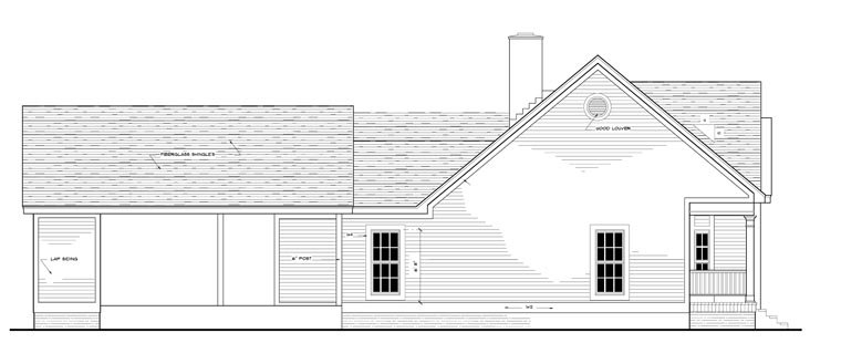 Country, European, Ranch House Plan 40006 with 3 Beds, 2 Baths, 2 Car Garage Picture 1