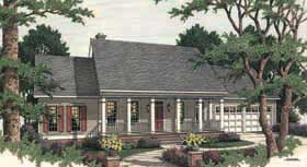 Country , Southern House Plan 40008 with 4 Beds, 3 Baths, 2 Car Garage Elevation