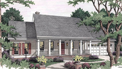 Country Southern House Plan 40008 Elevation