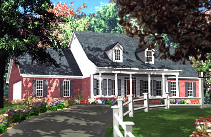 Cape Cod, Country House Plan 40011 with 3 Beds, 3 Baths, 2 Car Garage Elevation