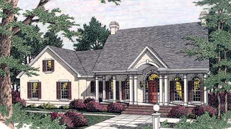 Cape Cod Colonial European House Plan 40012 Elevation
