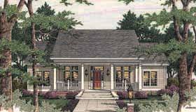 Colonial Country Southern House Plan 40014 Elevation