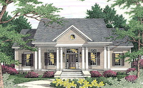 Cape Cod Colonial Country House Plan 40015 Elevation