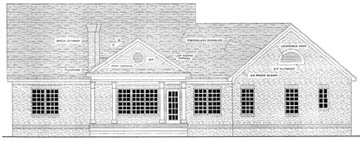 Colonial Southern House Plan 40016 Rear Elevation