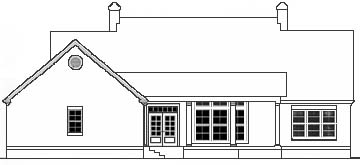 Cape Cod Colonial Southern House Plan 40018 Rear Elevation