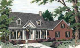 House Plan 40020 | Cape Cod Colonial Style Plan with 2197 Sq Ft, 3 Bedrooms, 3 Bathrooms, 2 Car Garage Elevation