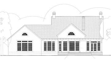 House Plan 40020 | Cape Cod Colonial Style Plan with 2197 Sq Ft, 3 Bedrooms, 3 Bathrooms, 2 Car Garage Rear Elevation