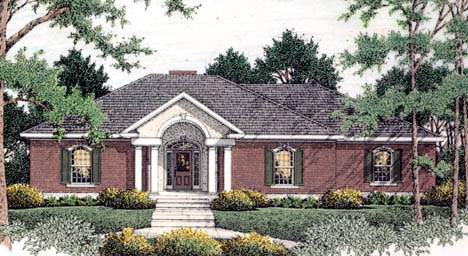 Colonial European House Plan 40021 Elevation