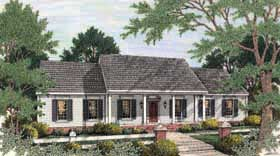 Colonial Ranch House Plan 40022 Elevation