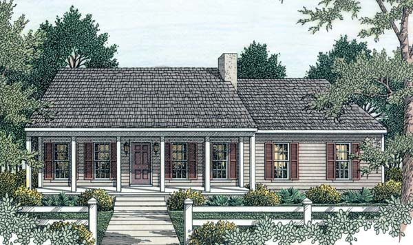 Country, Ranch House Plan 40026 with 3 Beds, 2 Baths, 2 Car Garage Picture 1