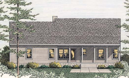 Country Ranch House Plan 40026 Rear Elevation