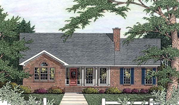 House Plan 40028 Elevation