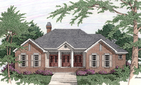 Colonial House Plan 40030 Elevation