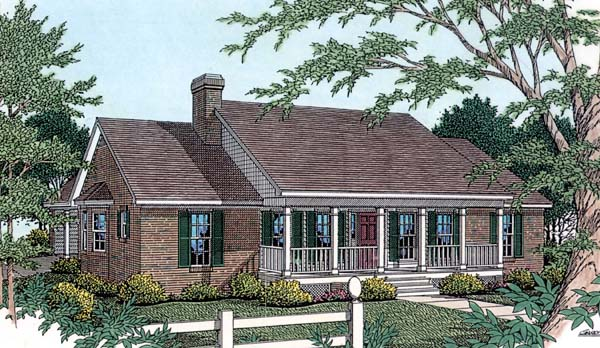 Country House Plan 40031 with 3 Beds, 3 Baths, 2 Car Garage Elevation
